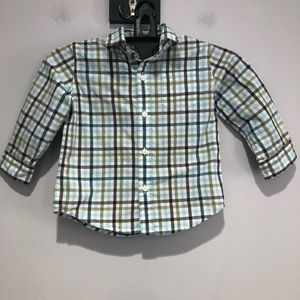 Janie and Jack long sleeve button down shirt